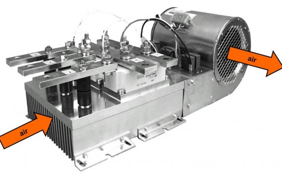Forced air cooling using a