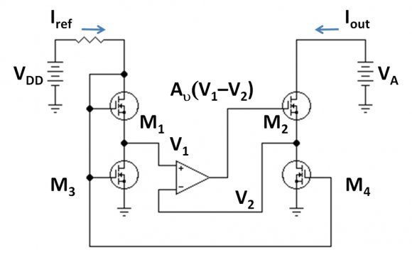 MOSFET version of gain-boosted