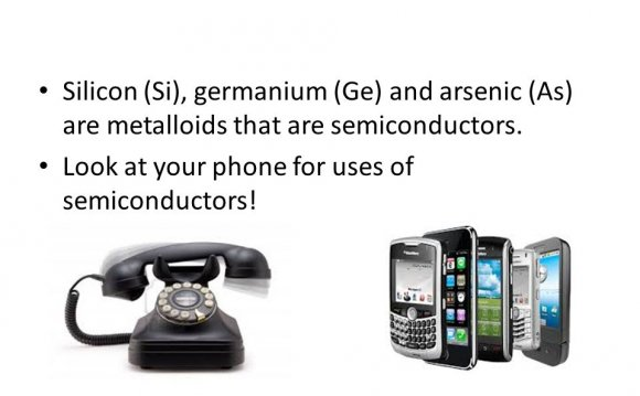 Silicon (Si), germanium (Ge)