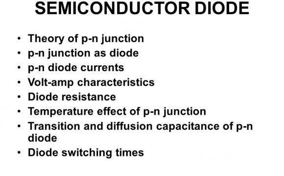 SEMICONDUCTOR DIODE Theory of