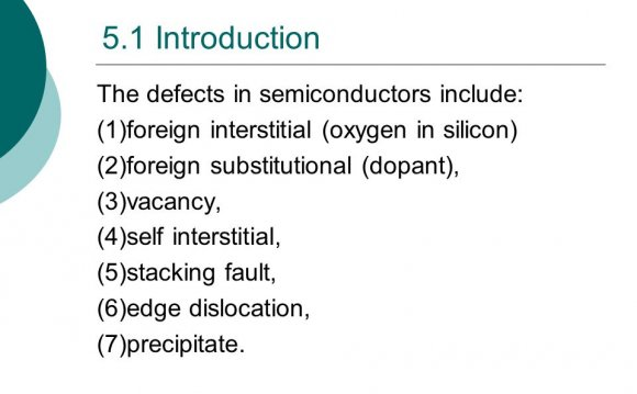 Defects in Semiconductors