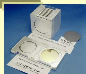 A 100 mm diameter wafer and fabricated lithium-drifted Si detectors for the Cosmic Ray Isotope Spectrometer (CRIS) on NASA's Advanced Composition Explorer (ACE) spacecraft launched in 1997.