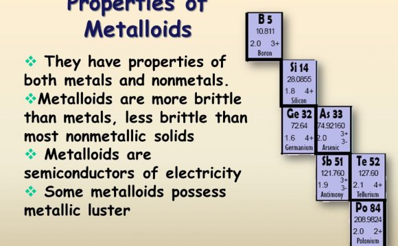Metalloids Semiconductors