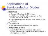 Applications of Semiconductor diodes
