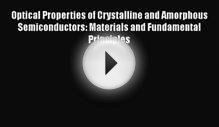Download Optical Properties of Crystalline and Amorphous