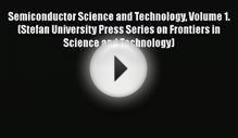 Download Semiconductor Science and Technology Volume 1