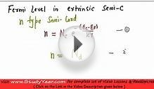 Fermi Level in Extrinsic Semiconductor - Theory & effect