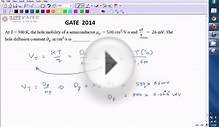 GATE 2014 ECE Hole diffusion constant of semiconductor
