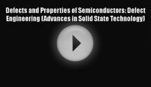 PDF Defects and Properties of Semiconductors: Defect