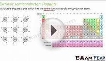 Physics Semiconductors part 5 (Extrinsic Properties) CBSE