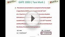 Problem on Semiconductors (Diffusion) - GATE 2003 ECE