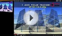 some examples of tracking used for solar panels